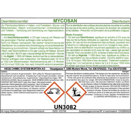 MYCOSAN Desinfektionsmittel und Algizid